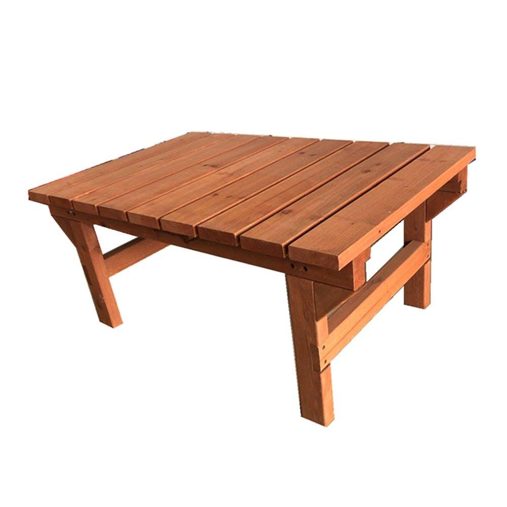 簡単に組立できる木製デッキ 90x58x40cm, , product