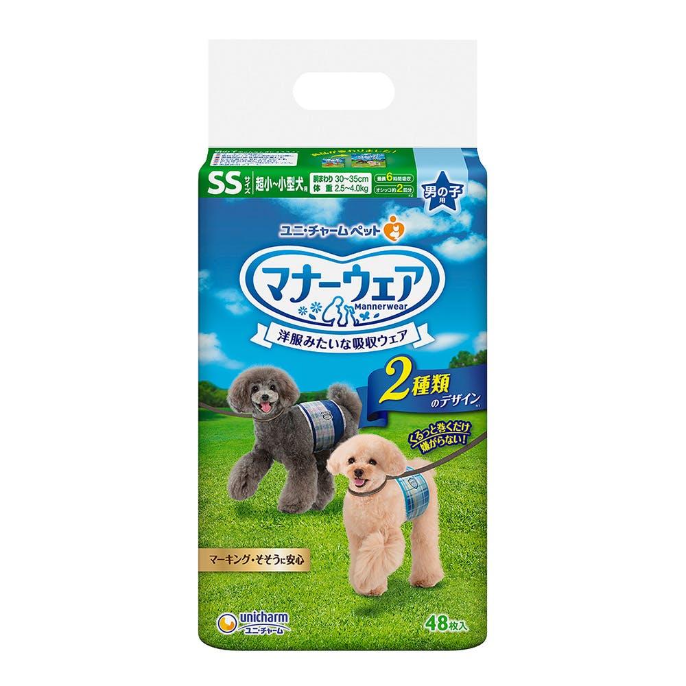 マナーウェア 男の子用 SSサイズ 超小~小型犬用 48枚入, , product
