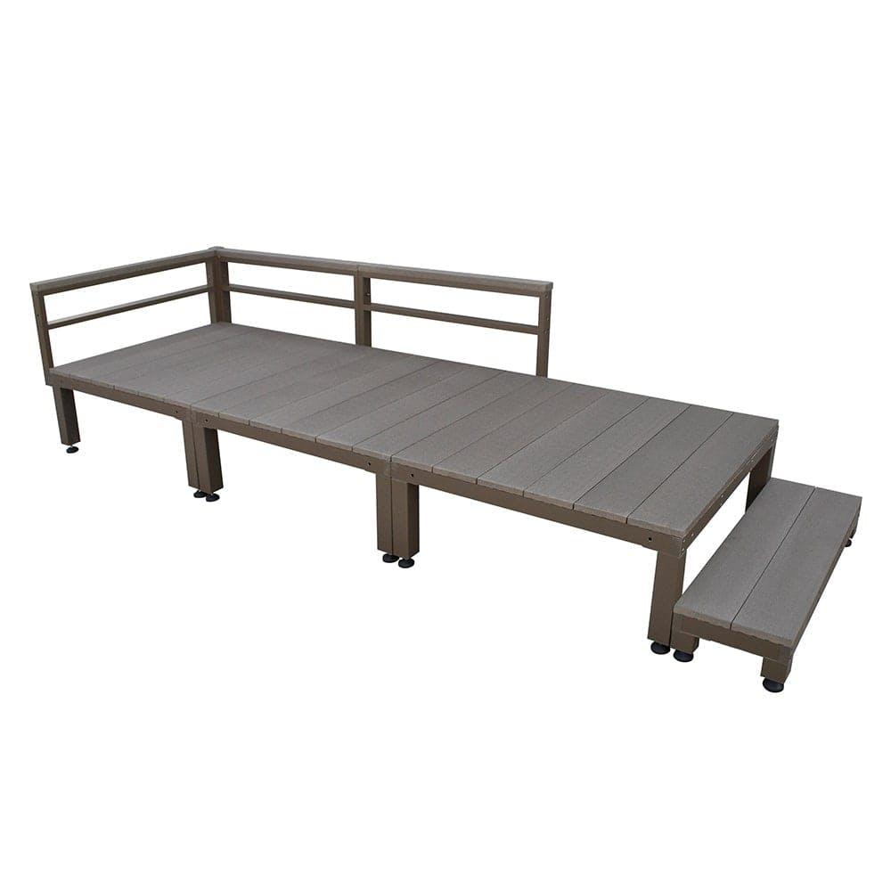 【SU】人工木ユニットデッキ 0.75坪セットステップ付 DB, , product