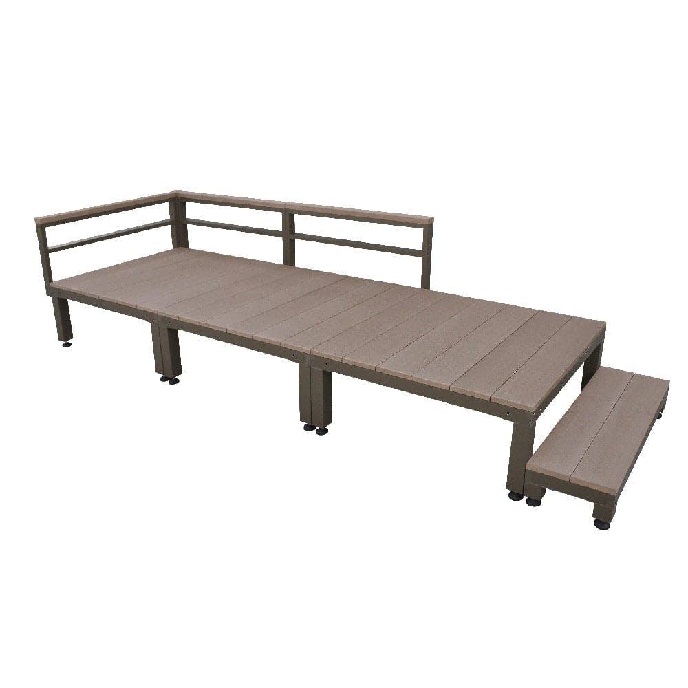 【SU】人工木ユニットデッキ 0.75坪セットステップ付 BR, , product