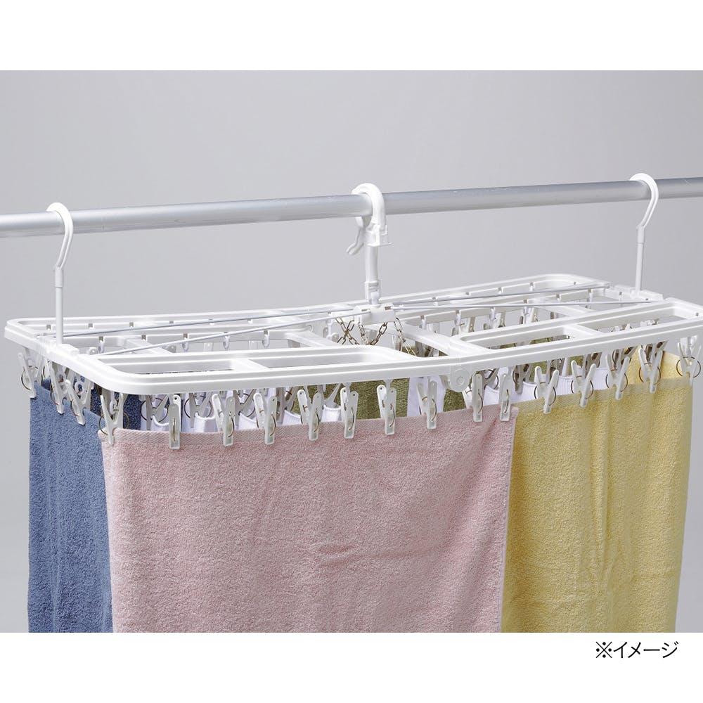 干す時に傾かない 大きな洗濯ハンガー 60ピンチ, , product