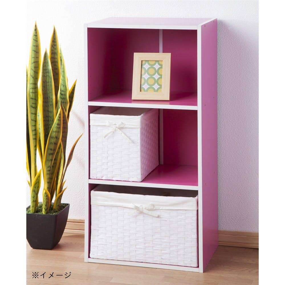 カラーボックス F25 可動棚カラフルボックス ピンク, , product