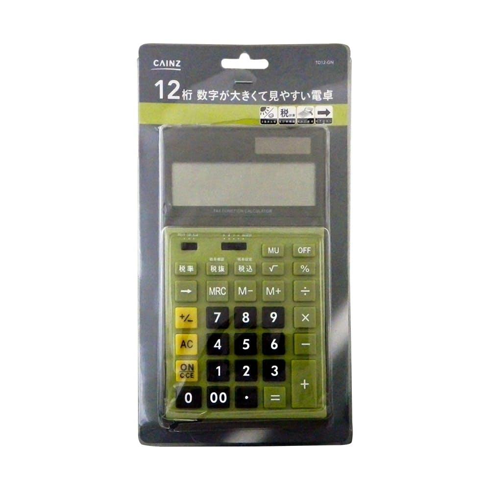 数字が大きく見やすい電卓 GN TD12-GN, , product
