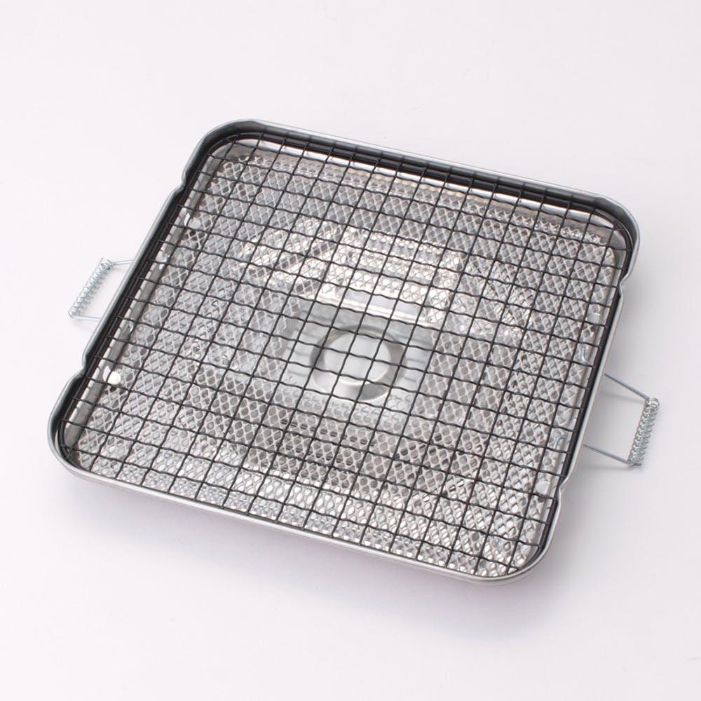 セラミック付き万能焼き網 角型 230mm, , product
