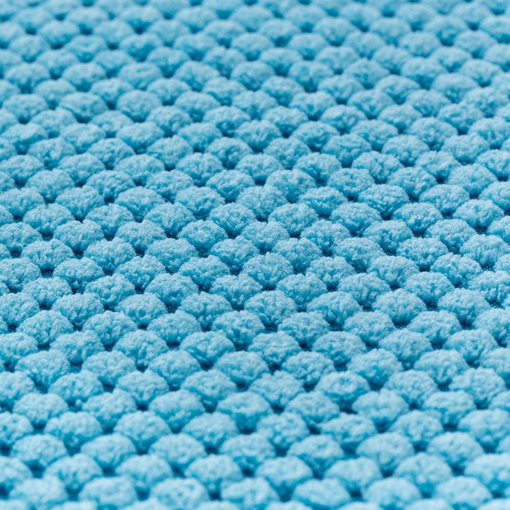 低反発ふんわりバスマット 45×60cm ブルー, , product