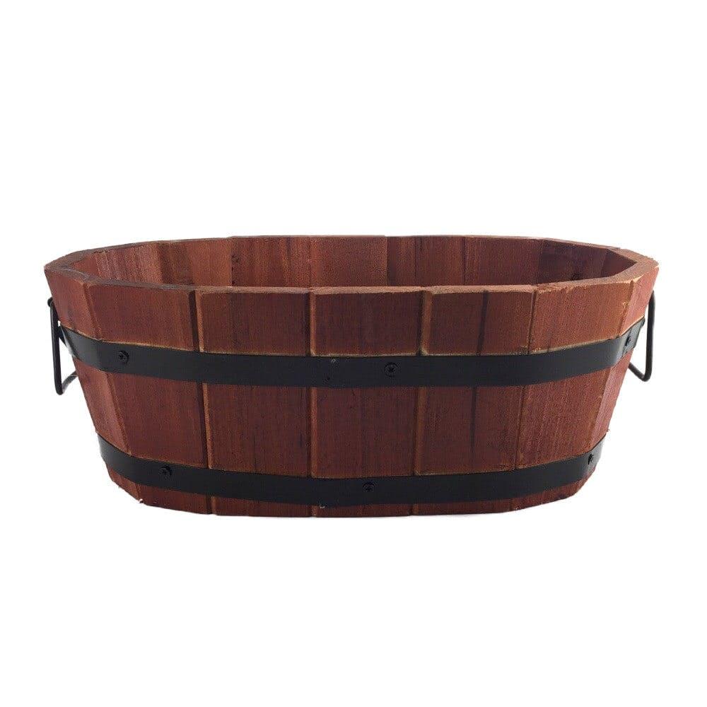 木製プランター 楕円型 320mm, , product