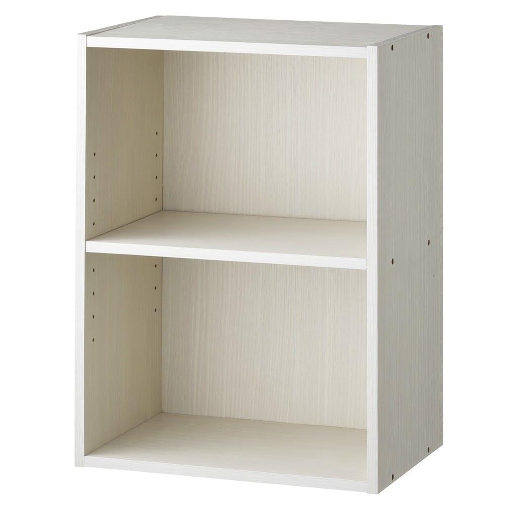カラーボックス S2 可動棚収納ボックス 2段 ホワイト, , product