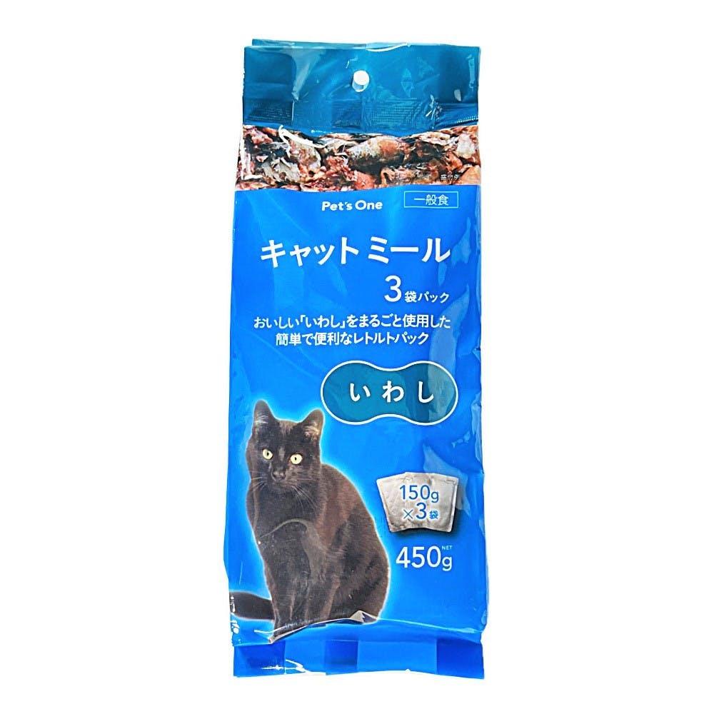 Pet'sOne キャットミールパウチ いわし 150g 3袋パック, , product