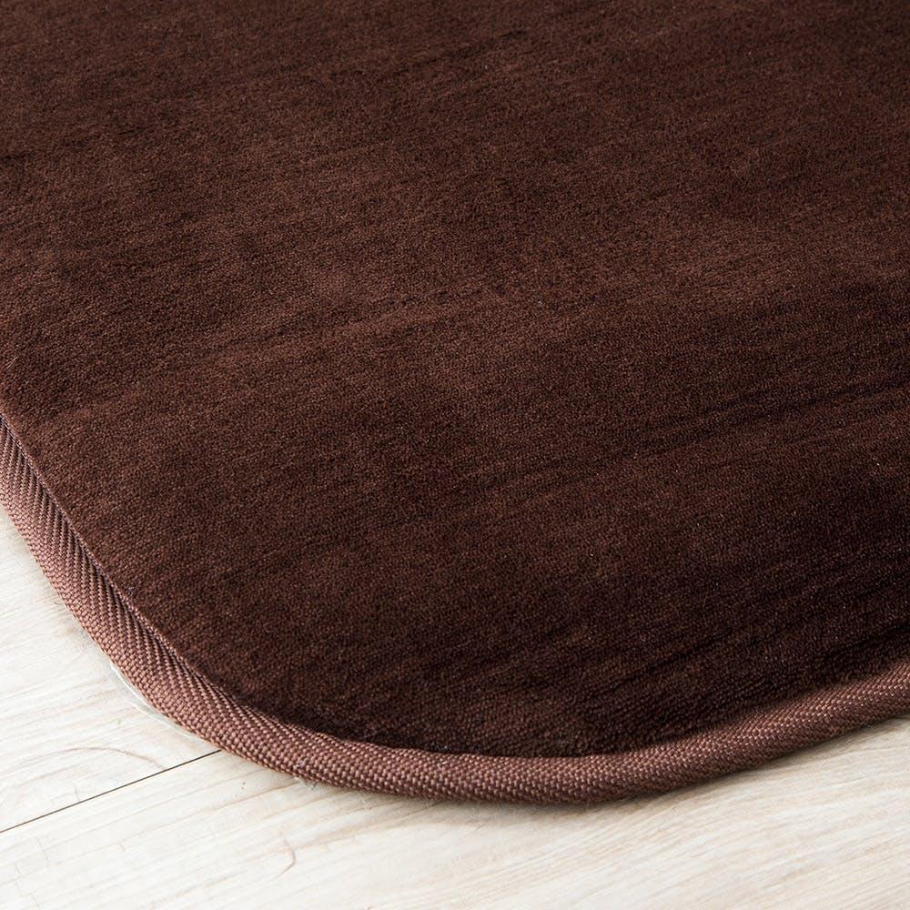 【SU】低反発ふんわりラグ 185×185 ブラウン, , product