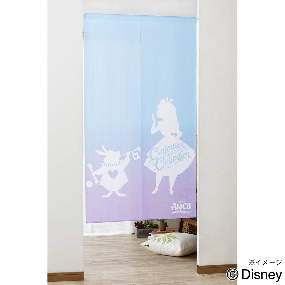 ディズニー のれん 不思議の国のアリス 85×150, , product
