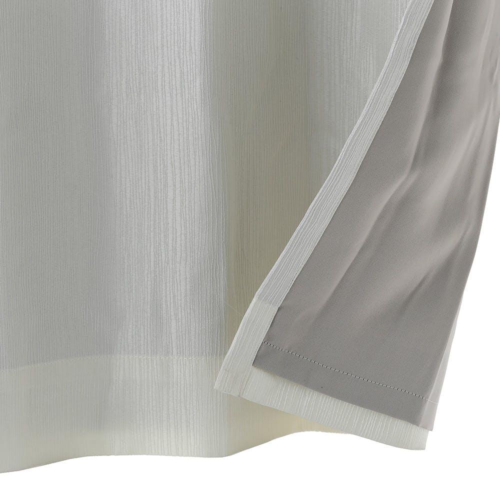 裏地付きカーテン バーチ ホワイト 100×178cm 2枚組, , product