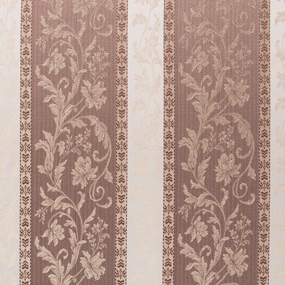 裏地付きカーテン ダマスク ブラウン 100×178cm 2枚組, , product