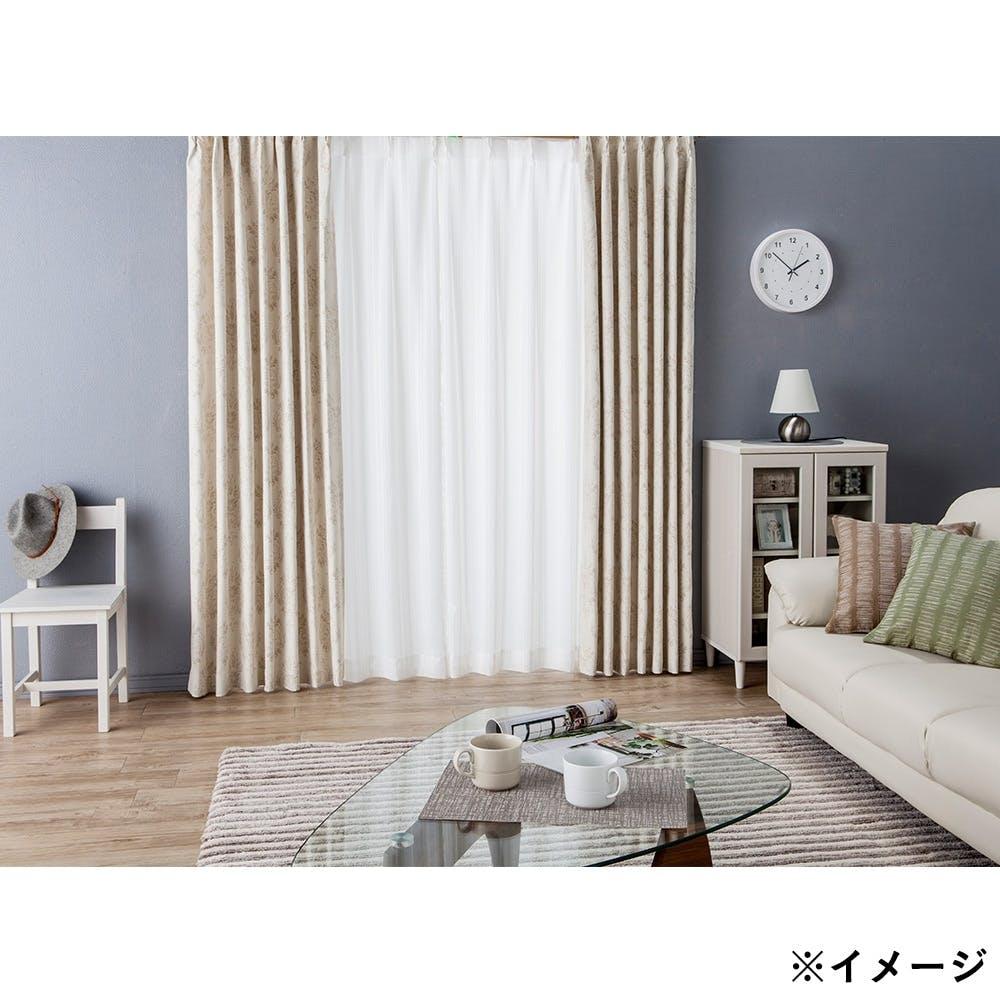 ボイル スプリント ホワイト 100×198cm 2枚組 レースカーテン, , product