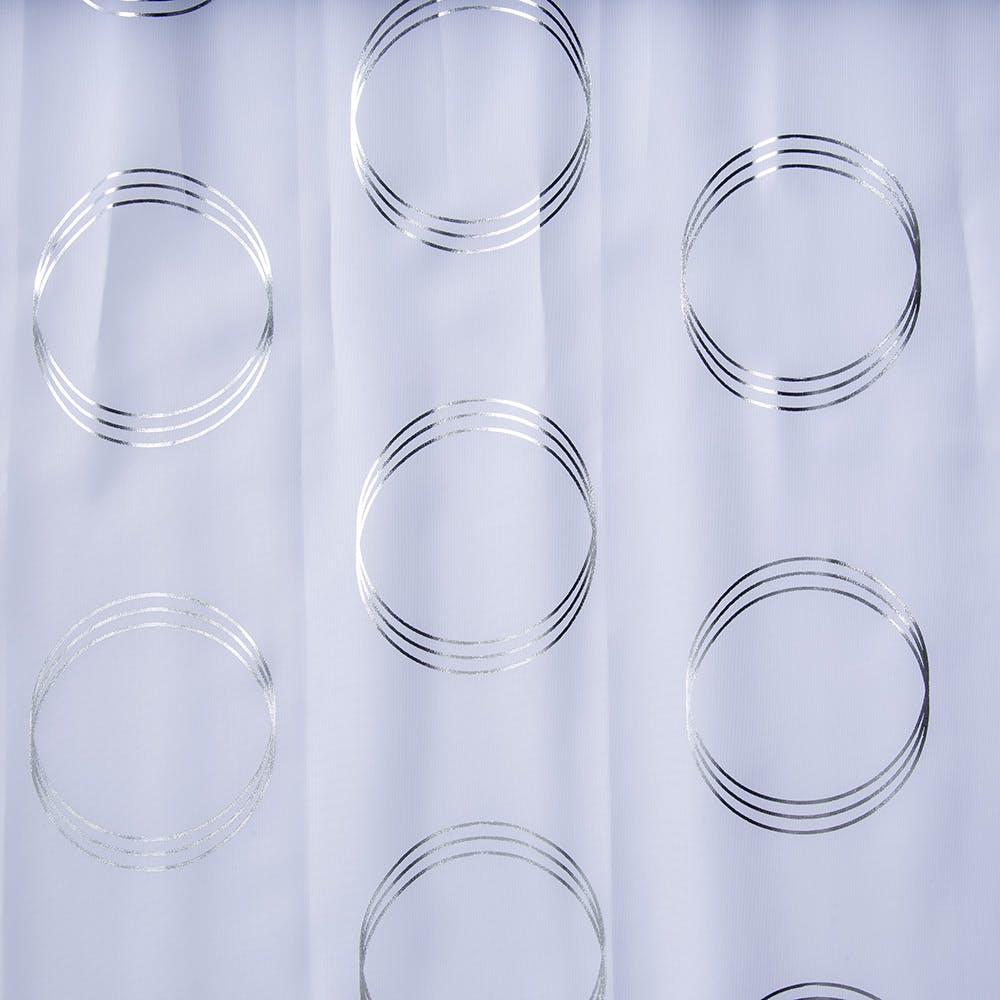 ボイル オーバル ホワイト 100×198cm 2枚組 レースカーテン, , product