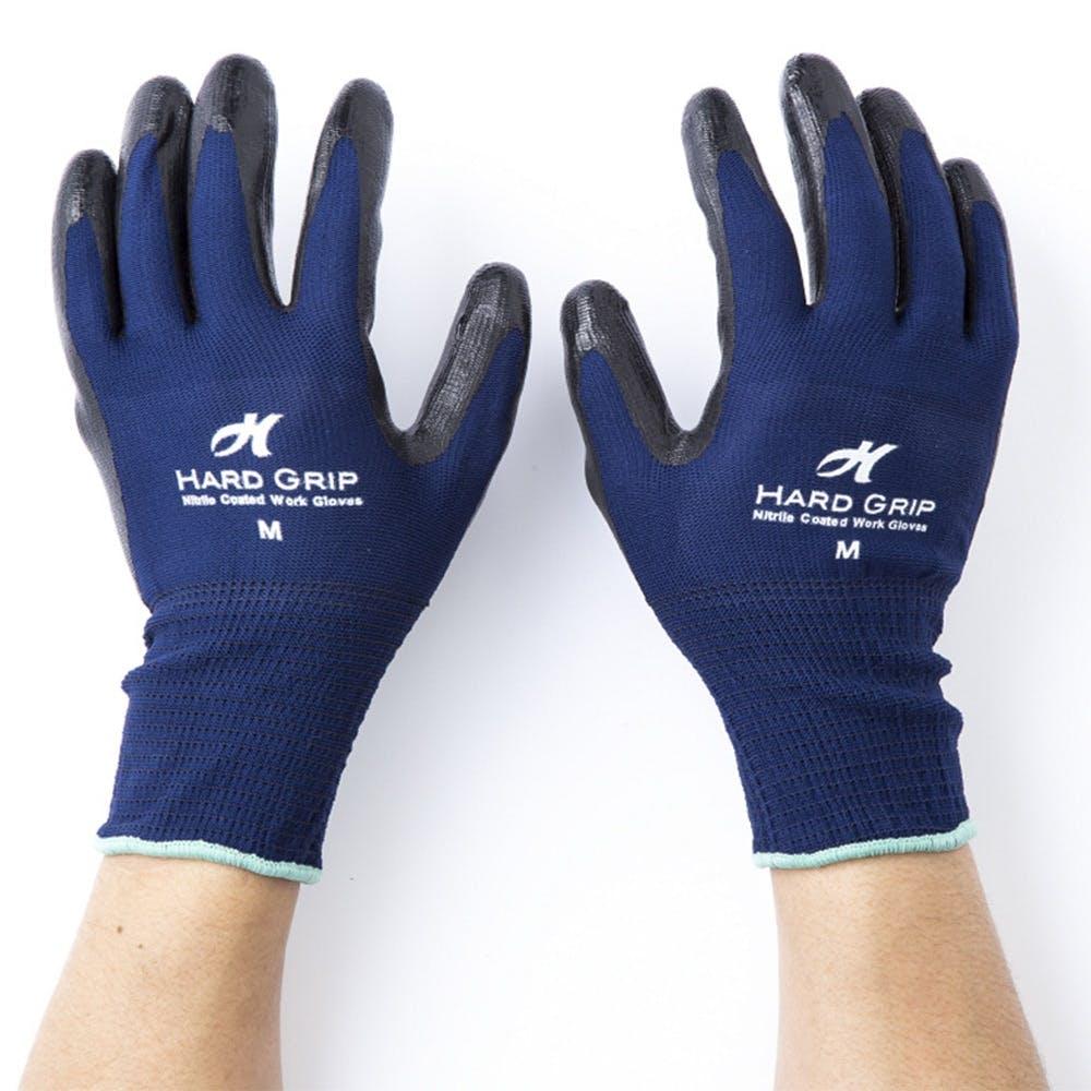 HARD GRIP ライト ニトリル背抜き手袋 3双組 M, , product