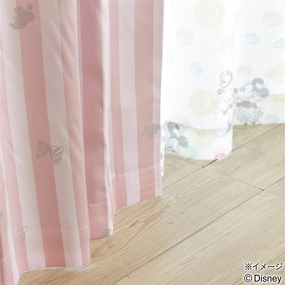ディズニー ミニーマウス 100×198cm 2枚組 レースカーテン【別送品】, , product