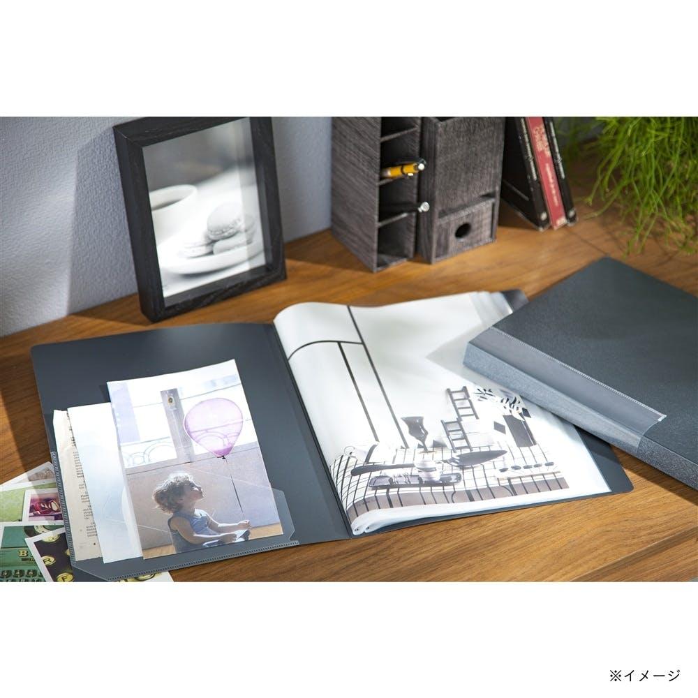 汚れがつきにくいクリアブック A4 40P ブラック, , product