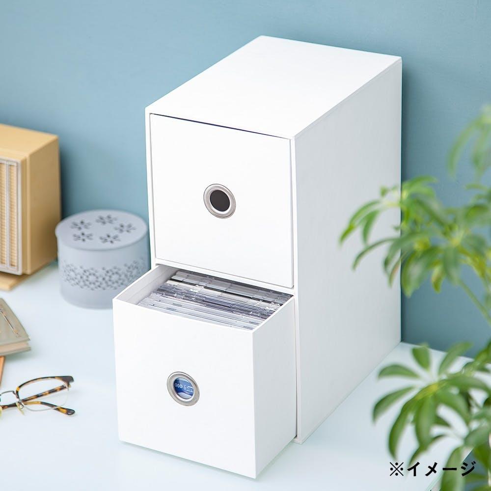 小物収納ケース 2段 ホワイト, , product