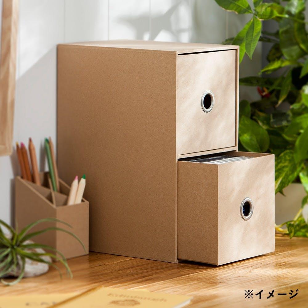 小物収納ケース 2段 ナチュラル, , product