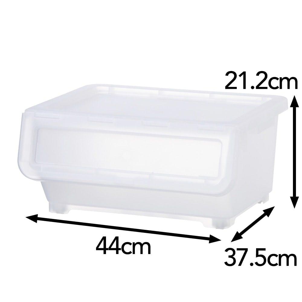 キャリコプラス Carico+ M 浅型 スモーキークリア 幅44×奥行37.5×高さ21.2cm, , product