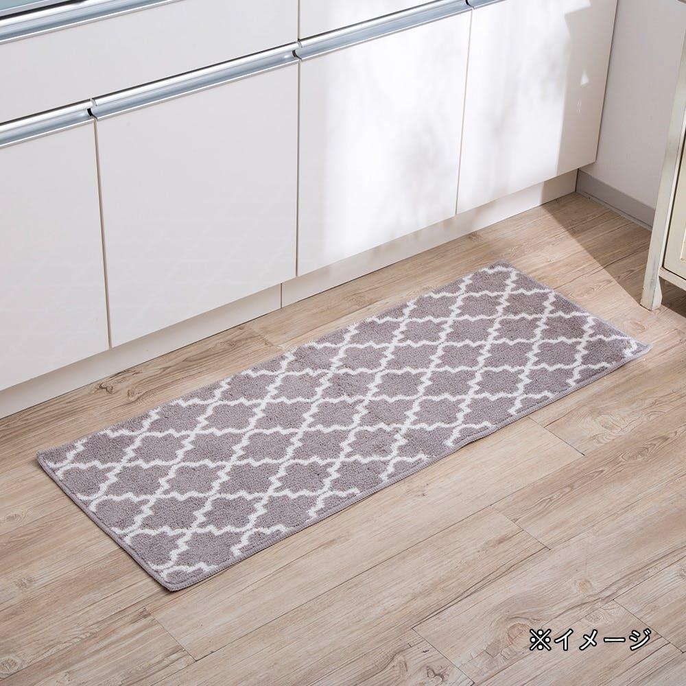 ずれにくいキッチンマットネオクラ 45×90 ベージュ, , product