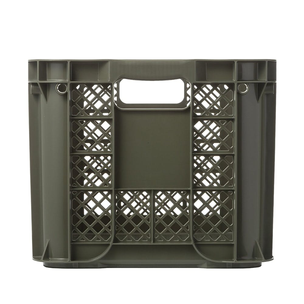 取っ手が持ちやすいコンテナ ダークグリーン, , product