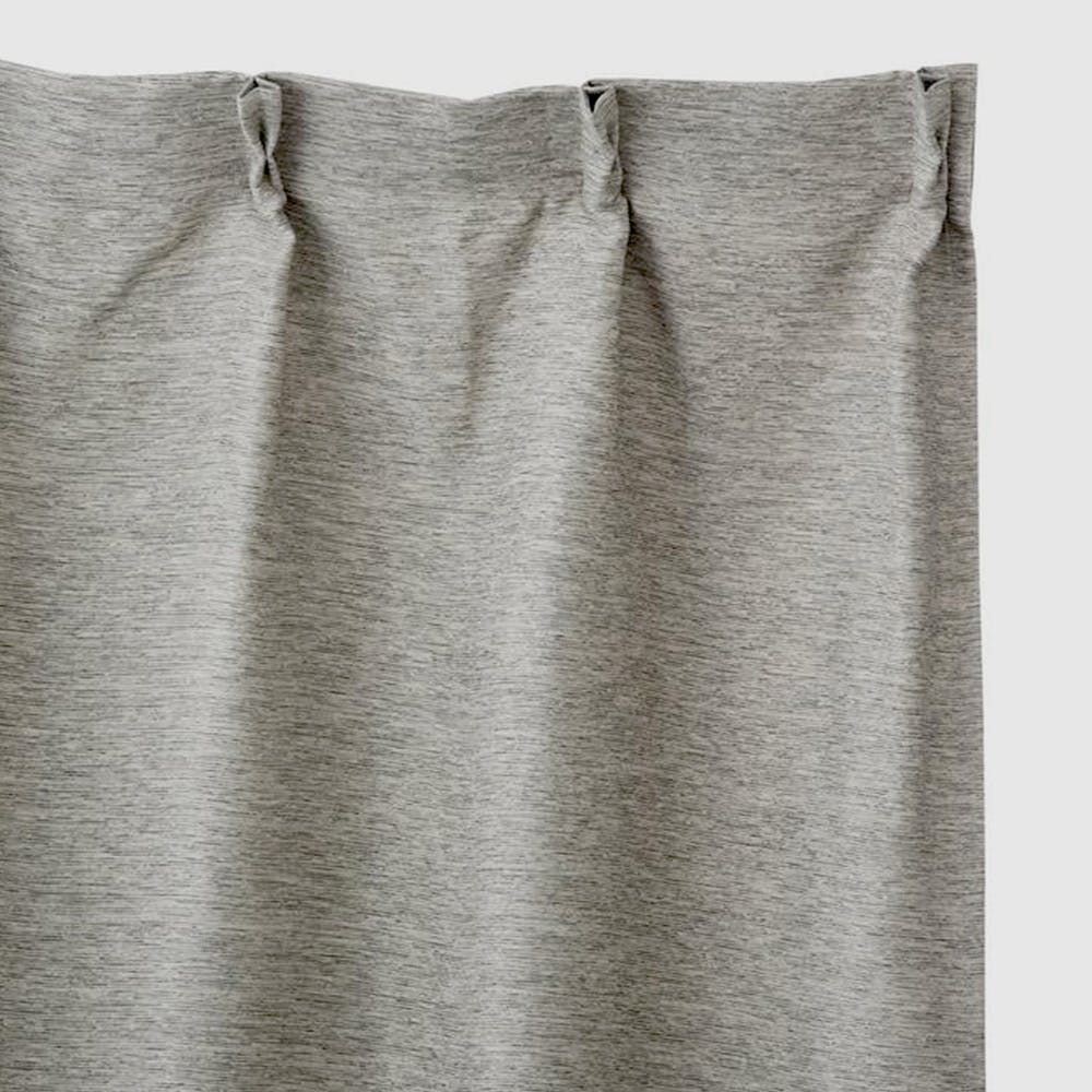 遮光防炎カーテン メホール グレー 100×200cm 2枚組, , product