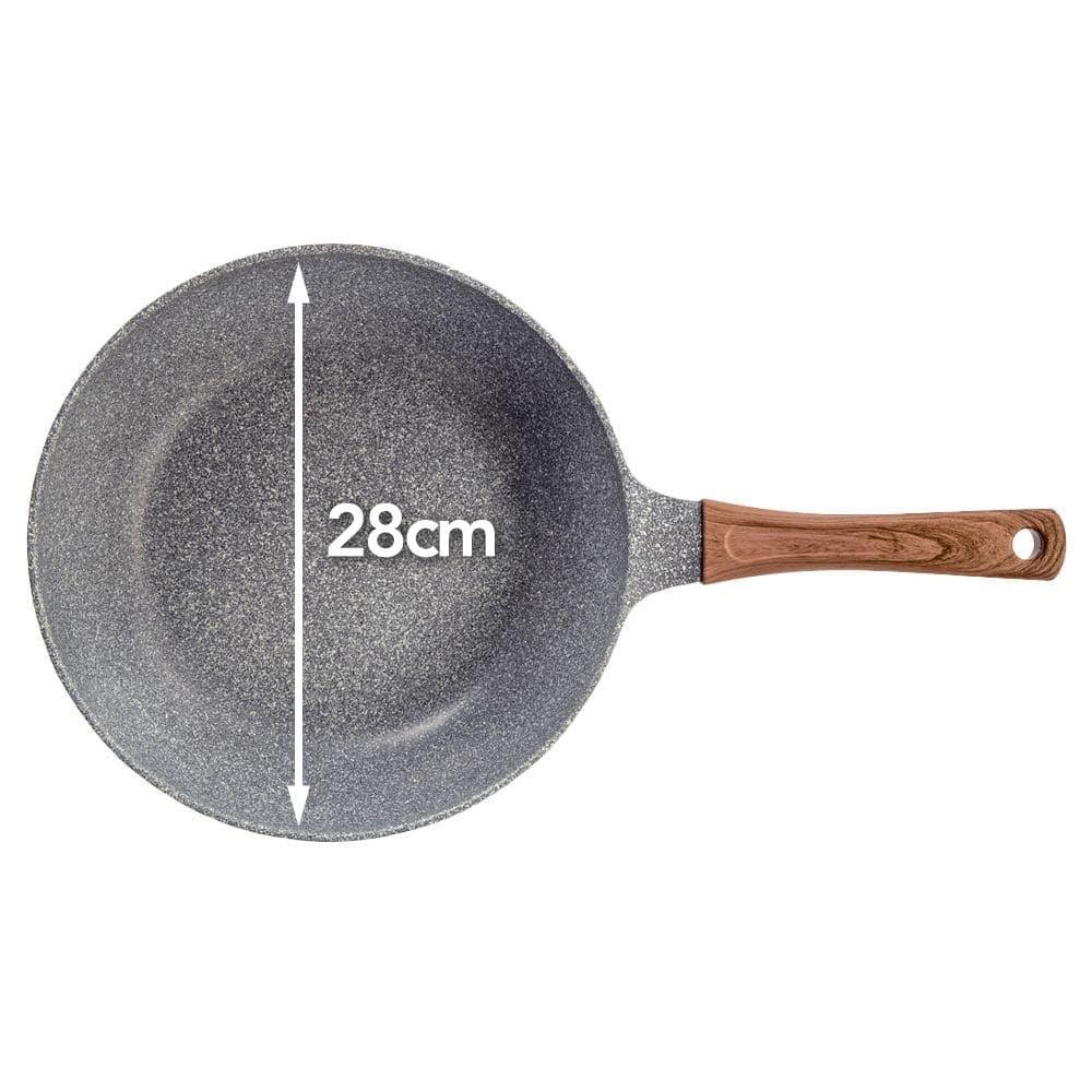 ストーンマーブル フライパン 炒め鍋 28cm, , product