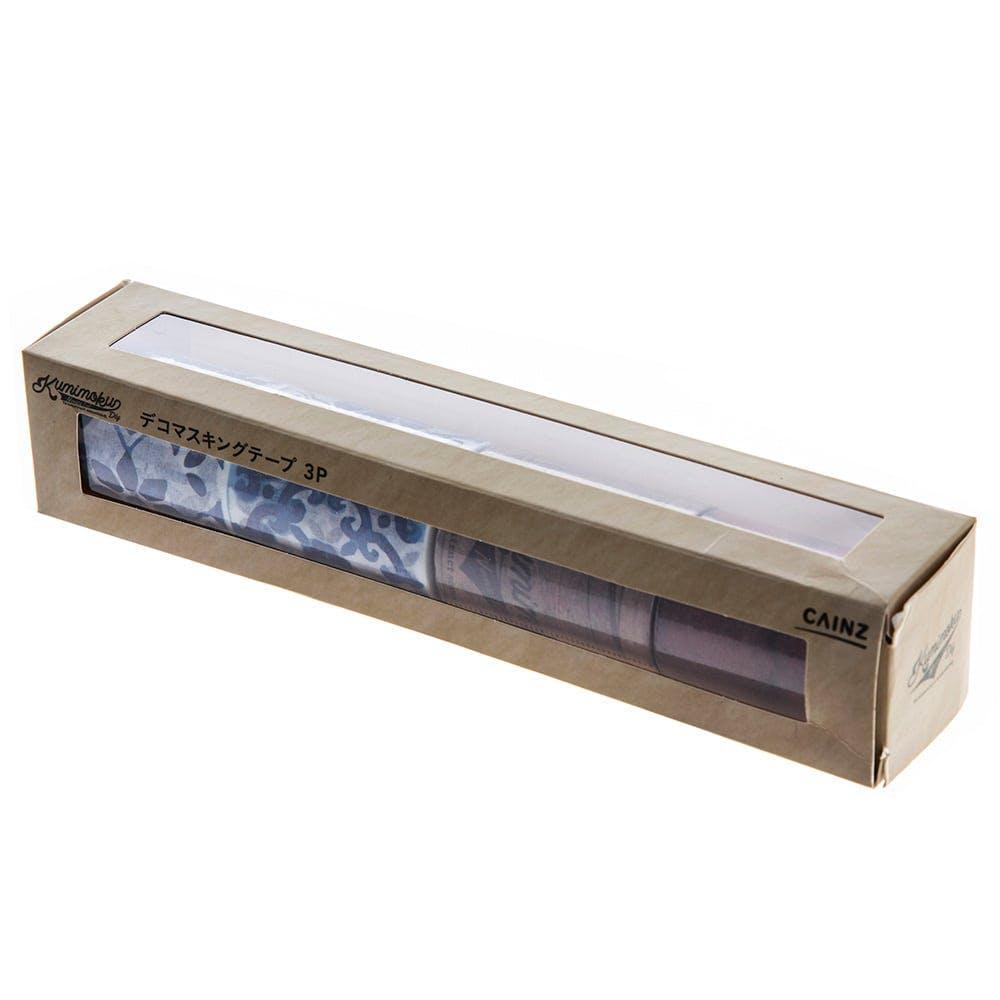 Kumimoku デコマスキングテープ 3点セットB(タイル+ツール+レンガ), , product