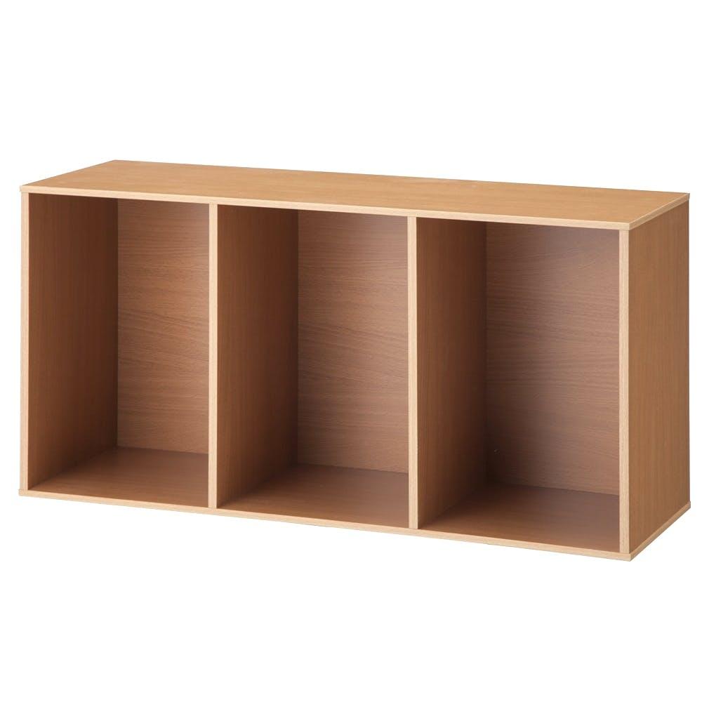 カラーボックス T4 固定棚収納ボックス3段 ナチュラル, , product