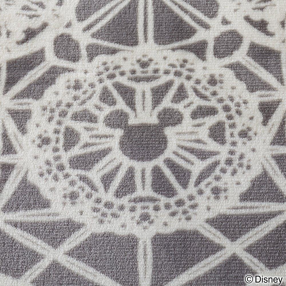 洗えるコンパクトラグ ミッキーレース グレー 185×185cm, , product