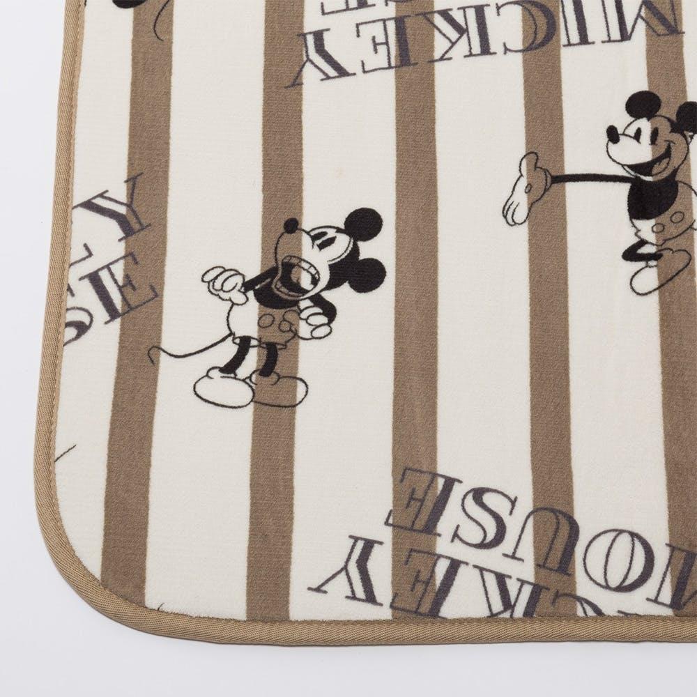 洗えるコンパクトラグ ミッキーマウス アイボリー 185×185cm, , product