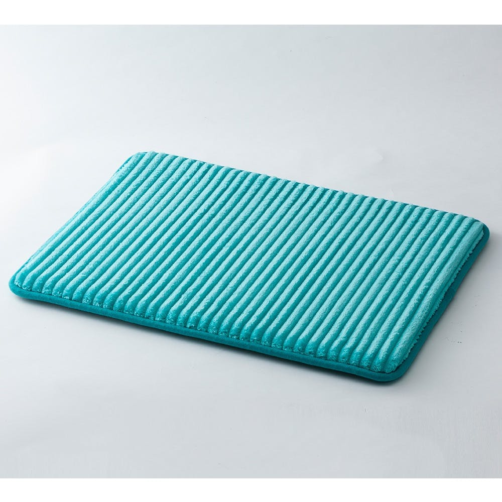 低反発ふんわりバスマットDRY 45×60cm ブルー, , product