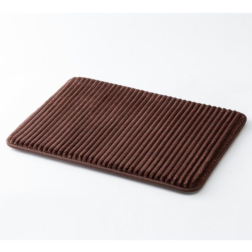 【店舗限定】低反発ふんわりバスマットDRY ブラウン 45×60cm, , product