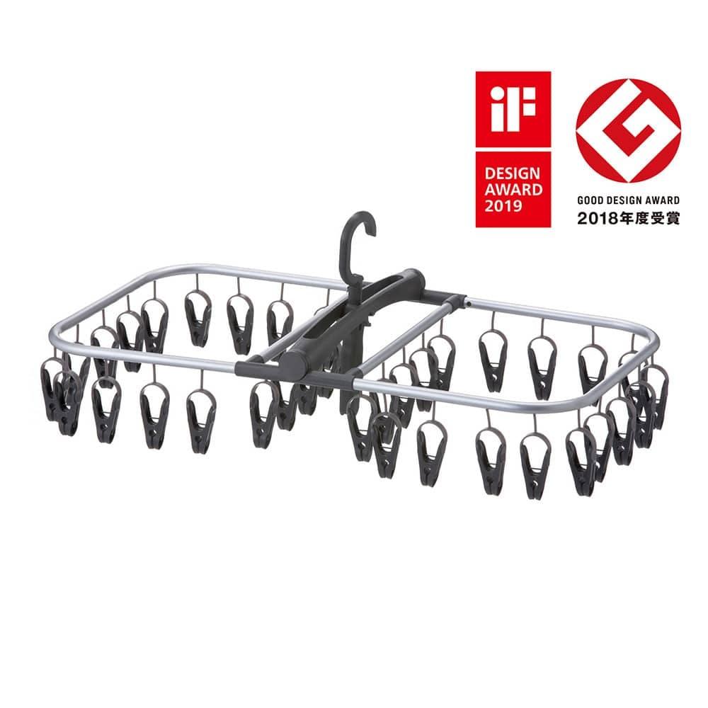 インテリア洗濯ハンガー 40ピンチ グレー, , product