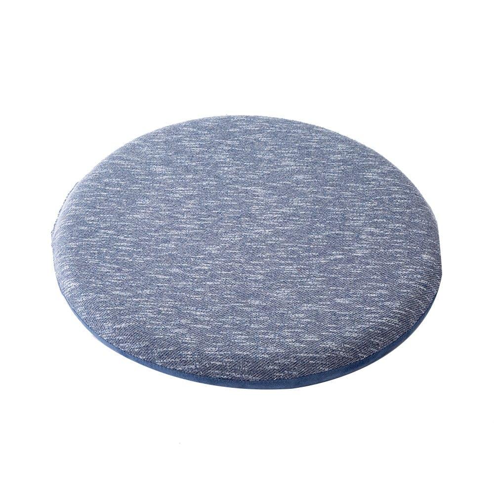 低反発オフィスサポート円形クッション ブルー, , product