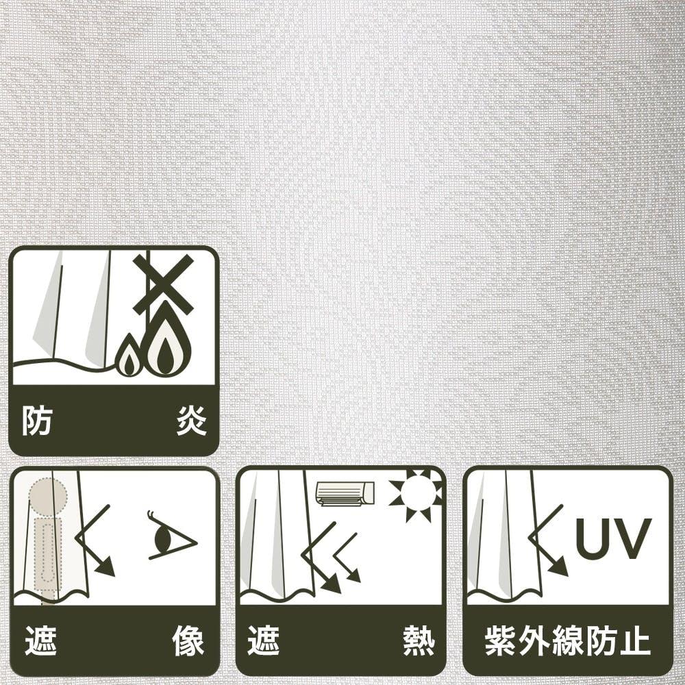 防炎・遮像・遮熱 ペイズリー100×198cm 2枚組 レースカーテン, , product