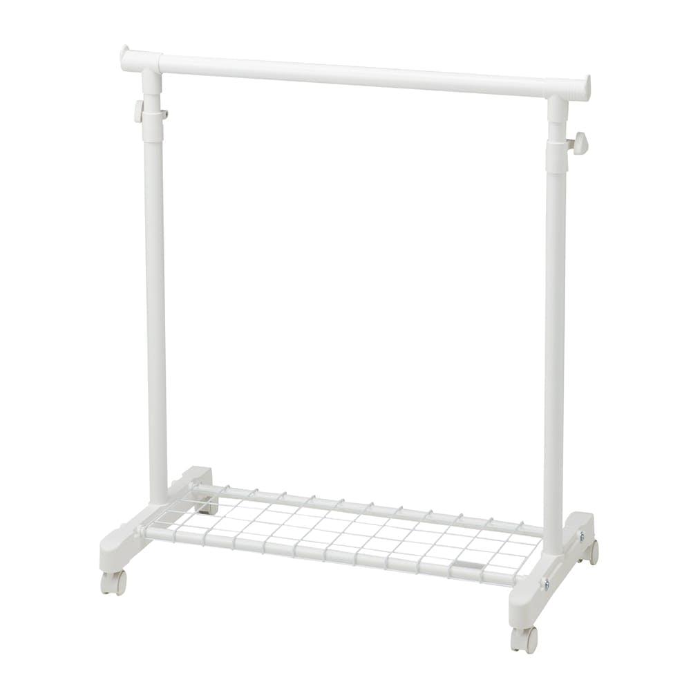 N55 収納棚付きハンガーラック ホワイト, , product