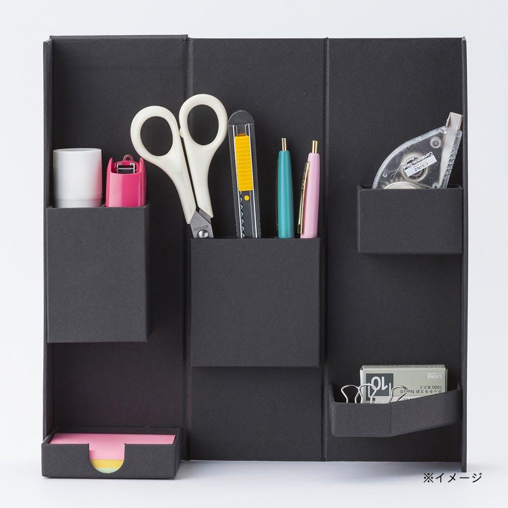 小物をまとめやすい折りたたみ道具箱 Bタイプ ブラック, , product