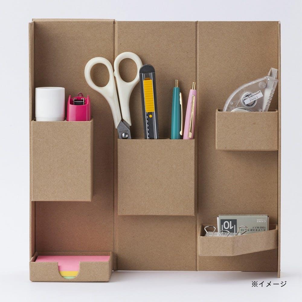 小物をまとめやすい折りたたみ道具箱 Bタイプ 自然色, , product