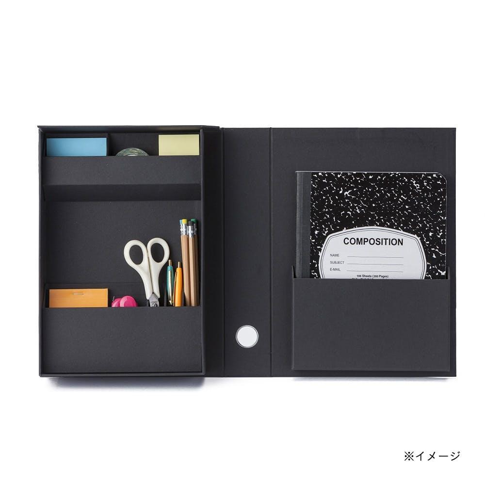 小物をまとめやすい折りたたみ道具箱 Fタイプ ブラック, , product