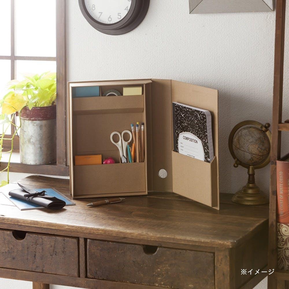 小物をまとめやすい折りたたみ道具箱 Fタイプ 自然色, , product