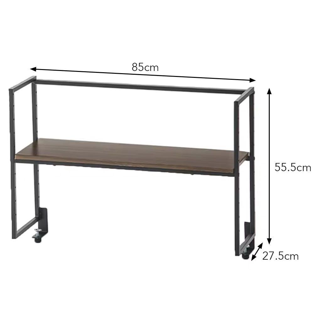 棚の高さが変えられる机上ラック ブラウン 85×27.5×55.5cm, , product