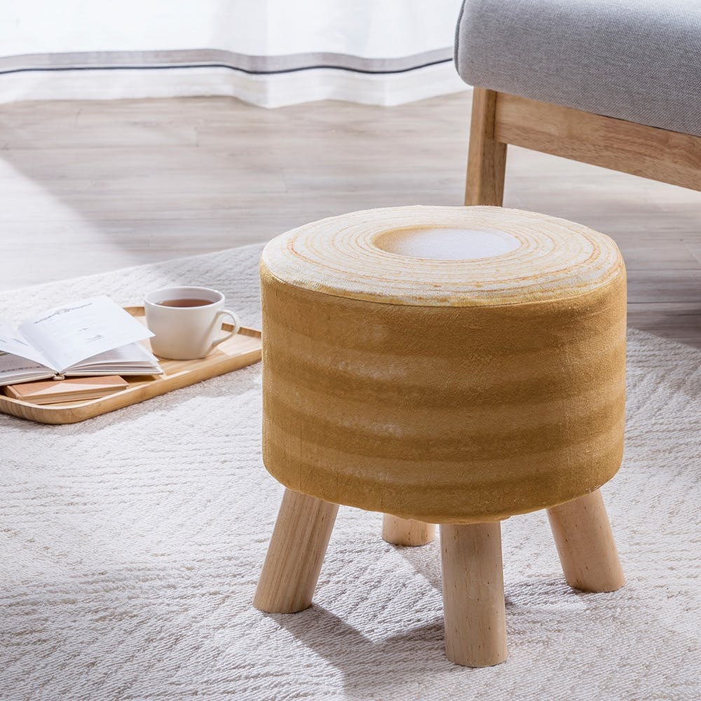 【数量限定】木脚スツール専用カバー バームクーヘン, , product