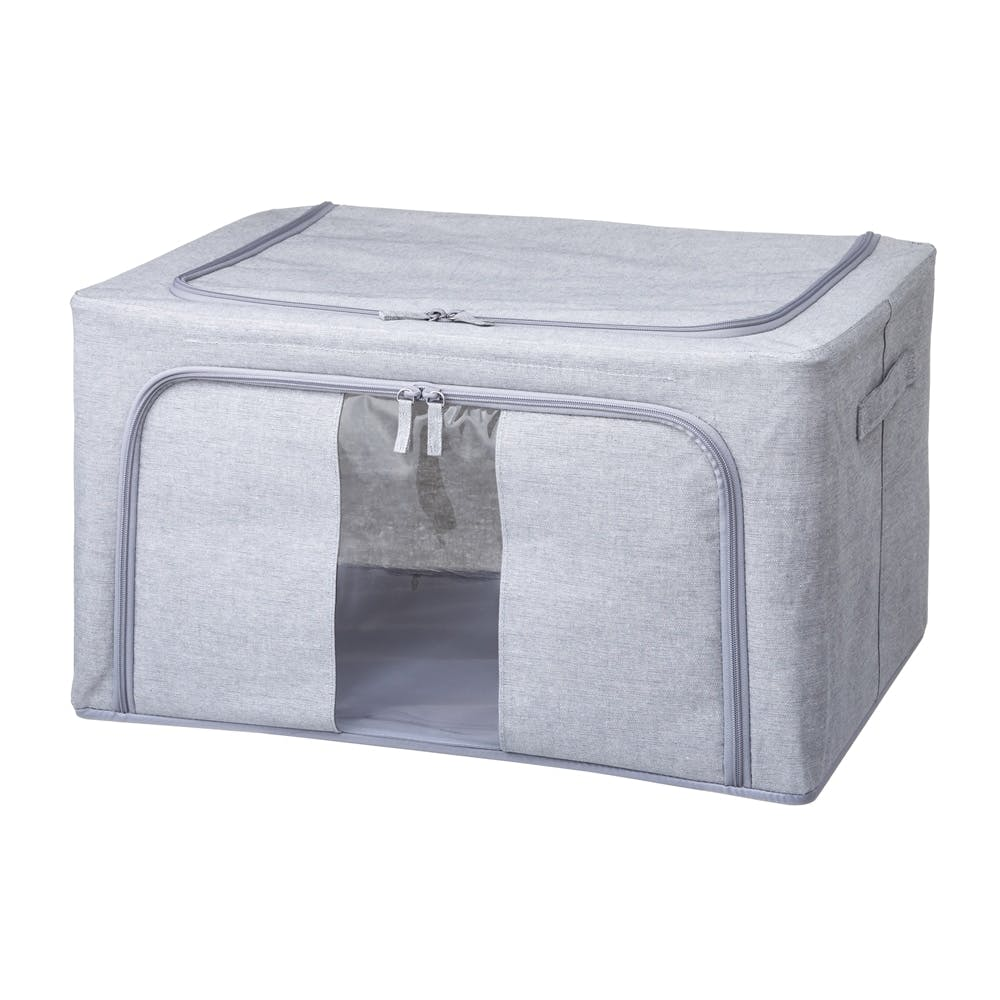 H2 積み重ねできる収納ボックス ライトグレー 60×40×30, , product