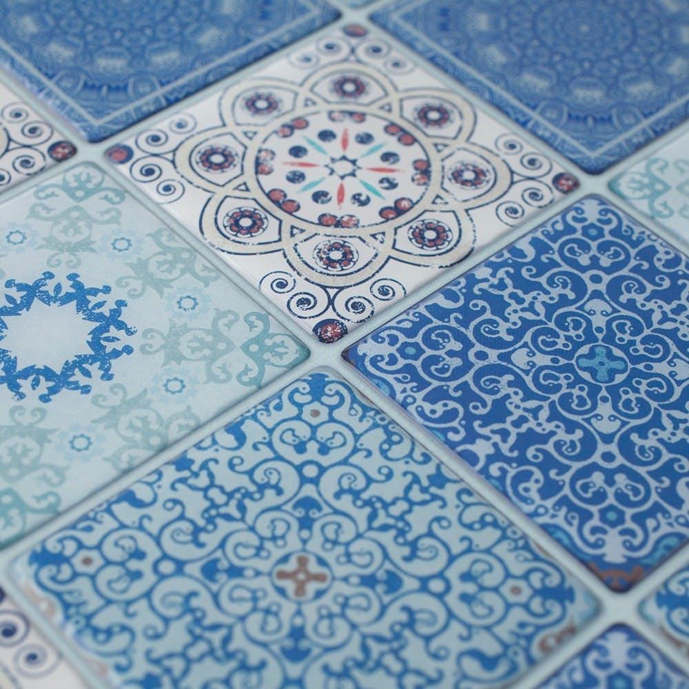Kumimoku デザインシート 四角25 ブルー, , product