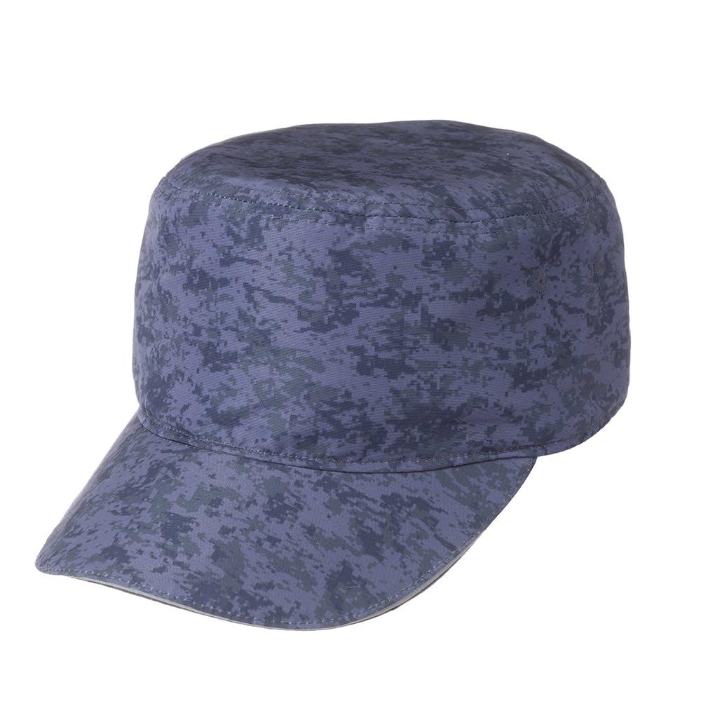 撥水フラットキャップ カモフラージュ ブルー, , product