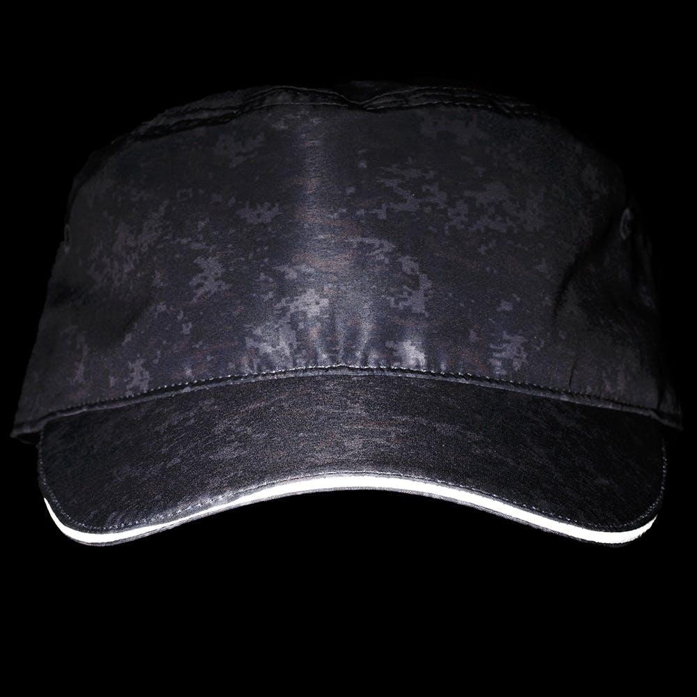 撥水フラットキャップ カモフラージュ ブラック, , product