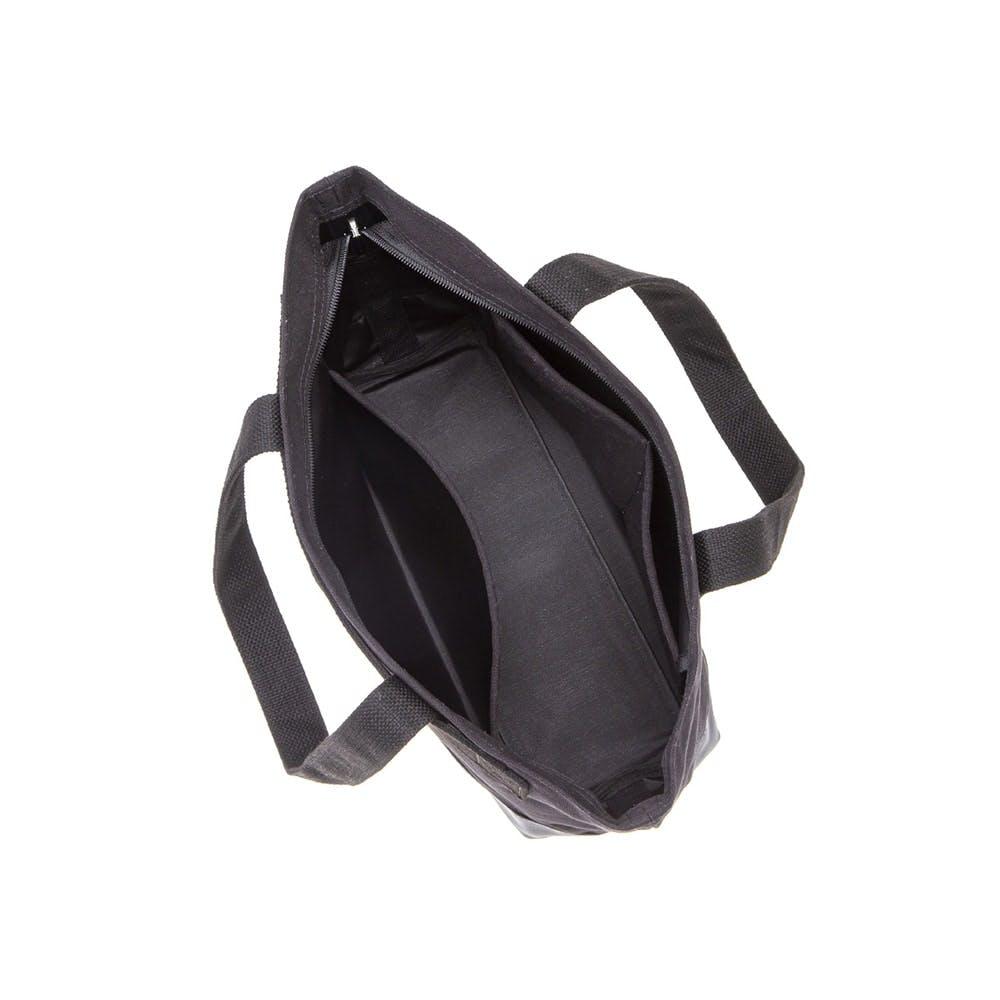 キャリーバー対応 ファスナー付トートバッグ 小 ブラック, , product