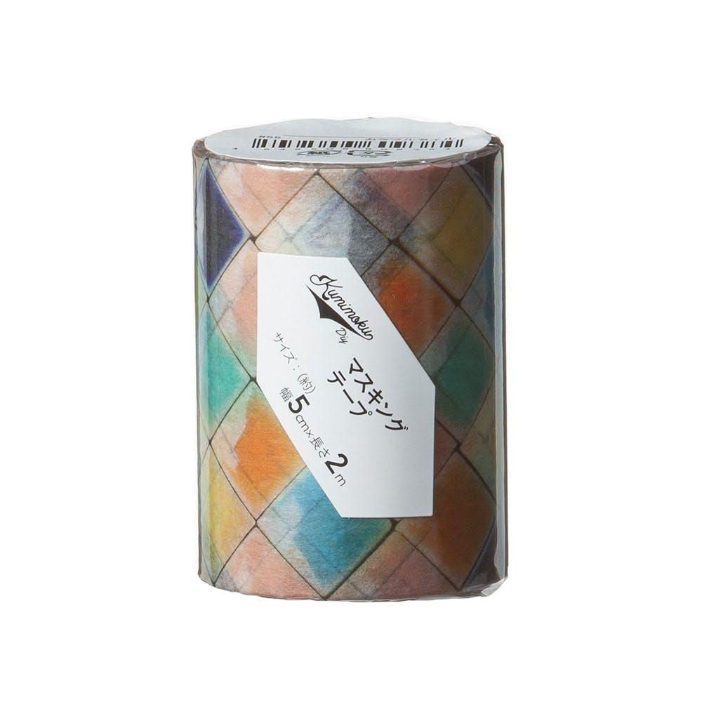 Kumimoku マスキングテープ カラフルタイル 5cm×2m, , product